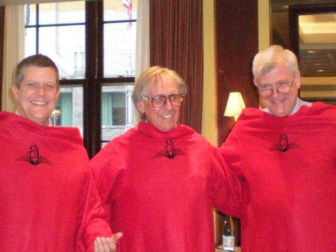 The Workman Sales Director, CEO and COO are ready to curl up with a good book in their Algonquin Snuggies!